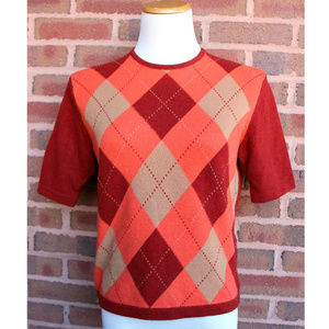 Ballantyne Cashmere Sweater Argyle Scotland sz 4